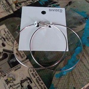 H&M Large Silver Hoop Earrings